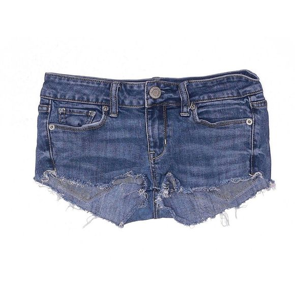 American Eagle | blue denim cut off shorts